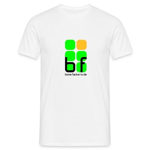 emblem farbig text schwarz - Männer T-Shirt
