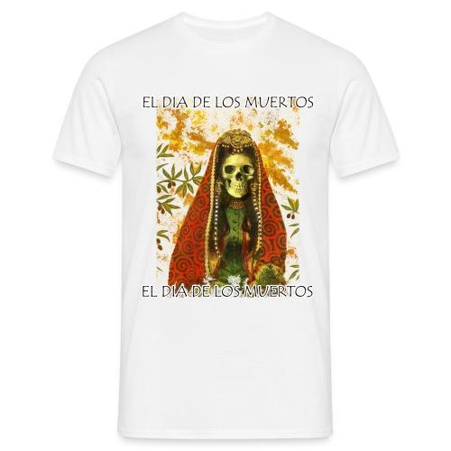 El Dia De Los Muertos Skeleton Design - Men's T-Shirt