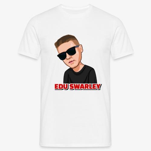 gezeichneter Edu Swarley weiß - Männer T-Shirt
