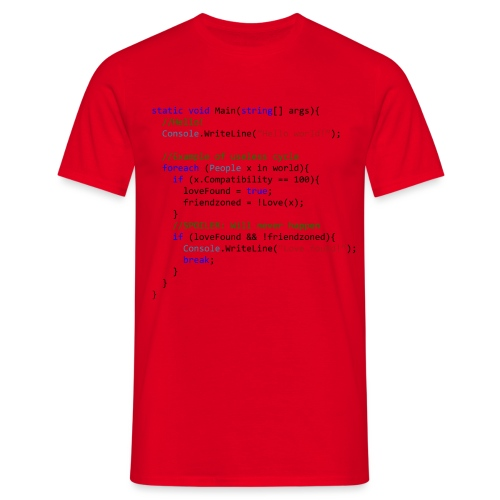 Love seen by a C# programmer - Maglietta da uomo