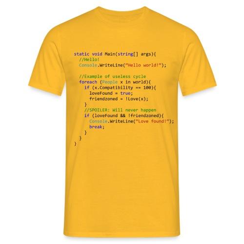 Love seen by a C# programmer - Maglietta da uomo