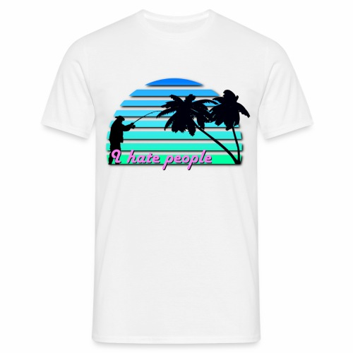 Ihatepeople fish 2 - Männer T-Shirt