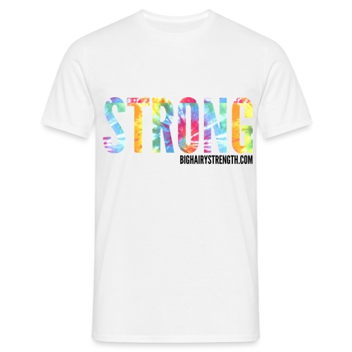 STRONG Tye Dye - White Tee - Men's T-Shirt