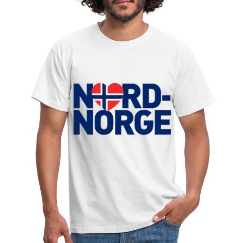 nordnorgehjertetekst01b2 - T-skjorte for menn