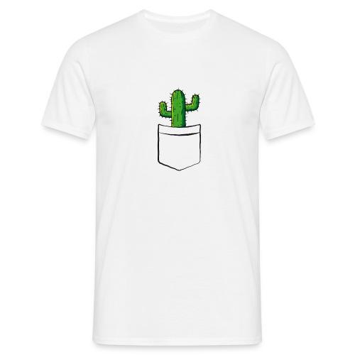 Kaktus in der Tasche – lustige Geschenkidee - Männer T-Shirt