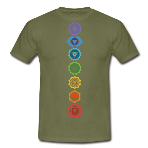 The 7 Chakras, Energy Centres Of The Body - Men's T-Shirt