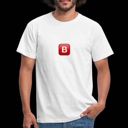 ios emoji negative squared latin capital letter b - Maglietta da uomo