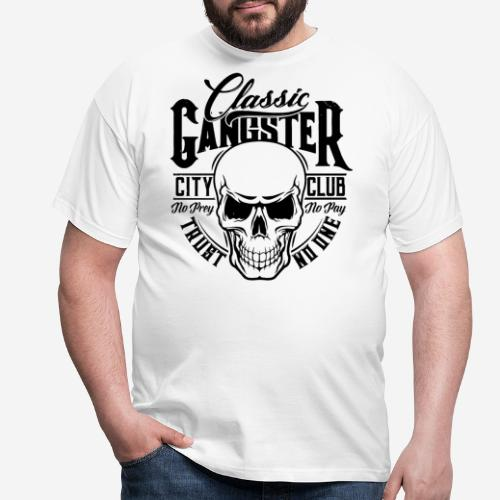 gangster classic skull - Männer T-Shirt