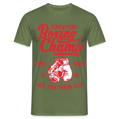 T-Shirt Boxeur Vintage rouge - T-shirt Homme