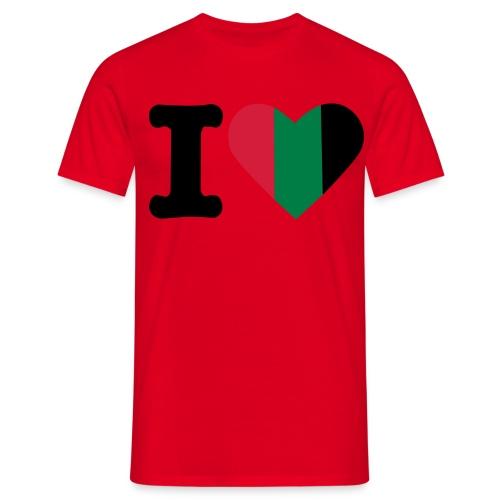 hartjeroodzwartgroen - Mannen T-shirt