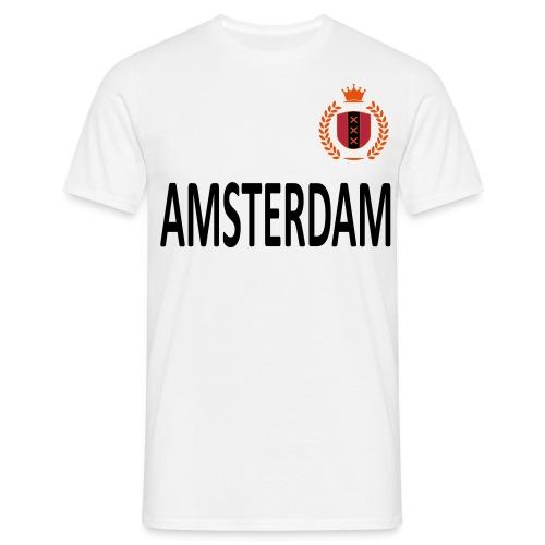 Amsterdam met krans - Mannen T-shirt