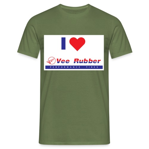 I love Vee Rubber - Männer T-Shirt