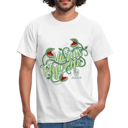 Venus Flytrap on white - Maglietta da uomo
