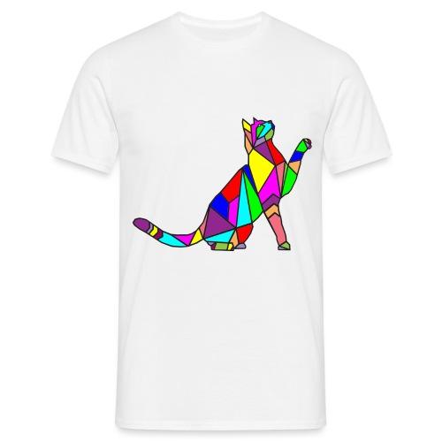 composizione di arte animale animale domestico colori gatto - Maglietta da uomo
