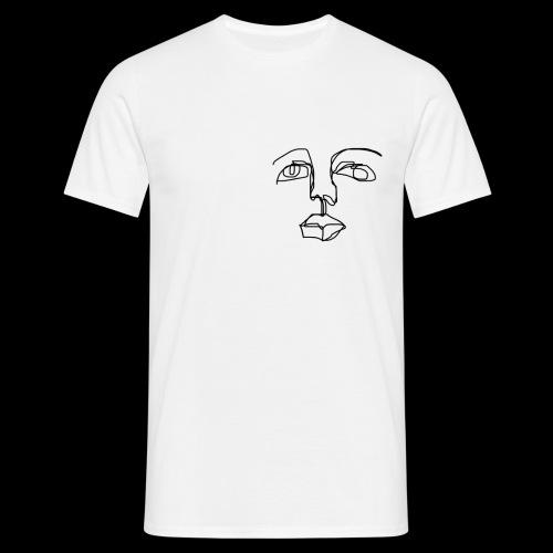 One-line man - T-skjorte for menn