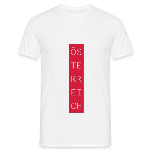Österreich Balken hoch - Männer T-Shirt