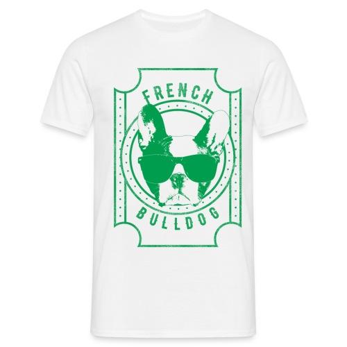 Franse Bulldog groen - Mannen T-shirt