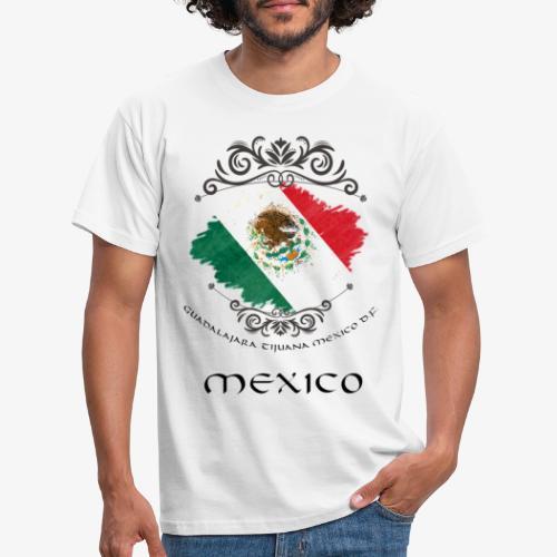 Mexico Vintage Bandera - Männer T-Shirt
