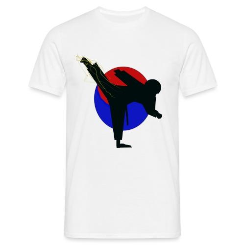 Taekwondo fighter design - Mannen T-shirt