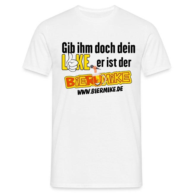 df3619452e888 BIERMIKESHOP24 | BIERMIKE LOGO für weisse T-SHIRTS - Männer T-Shirt