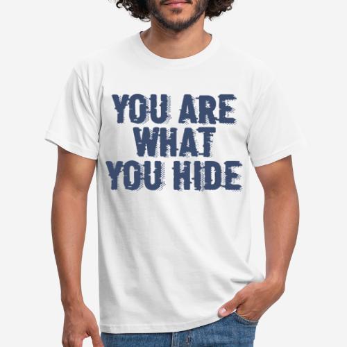 hide identity incognito - Männer T-Shirt