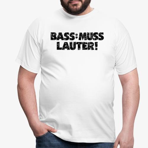 BASS MUSS LAUTER Vintage Schwarz - Männer T-Shirt