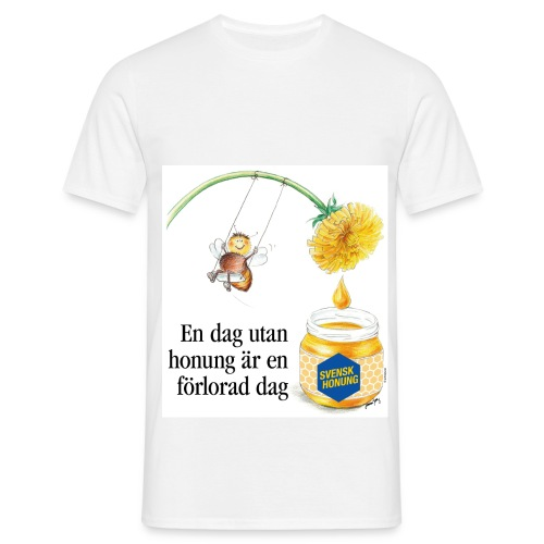 En dag utan honung är en förlorad dag - T-shirt herr