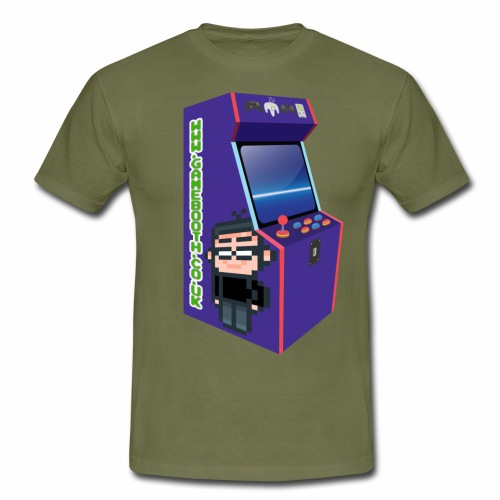 Game Booth Arcade Logo - Men's T-Shirt