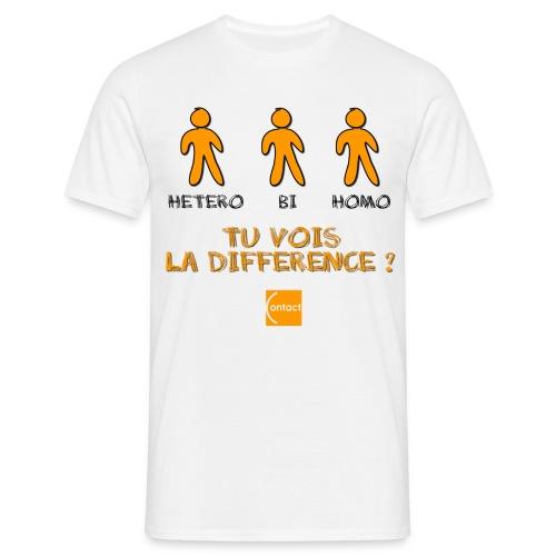 Hétéro, bi, homo : tu vois la différence ? - T-shirt Homme