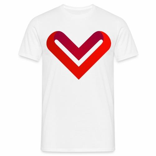 Coeur de V - T-shirt Homme