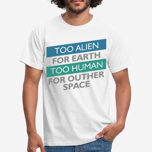 alien space astronaut - Männer T-Shirt