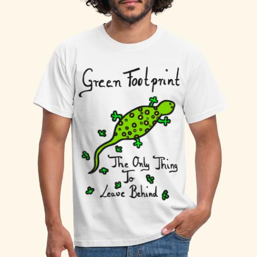 Gecko Green Footprint - Männer T-Shirt