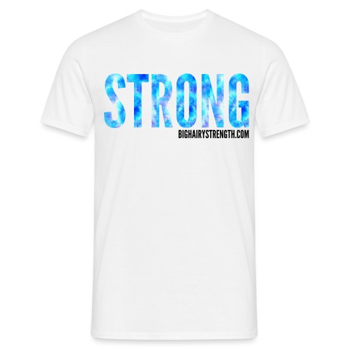 STRONG Blue Tye Dye - White Tee - Men's T-Shirt