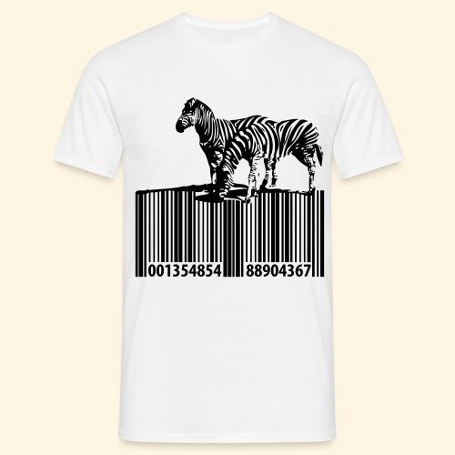 zebra barcode - Männer T-Shirt
