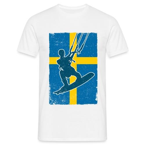 Kitesurfer Sweden - Männer T-Shirt
