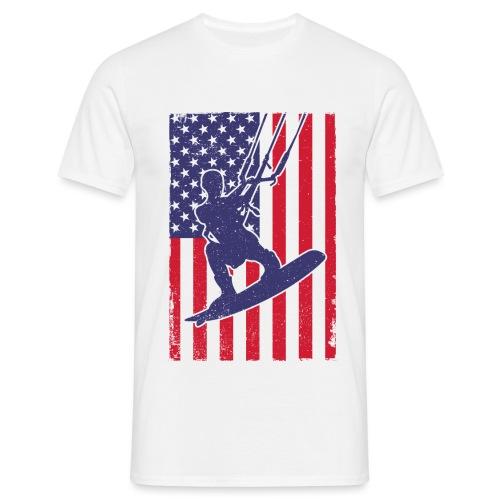 Kitesurfer USA - Männer T-Shirt