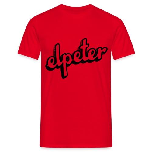 Elpeter Alleen Tekst - Mannen T-shirt