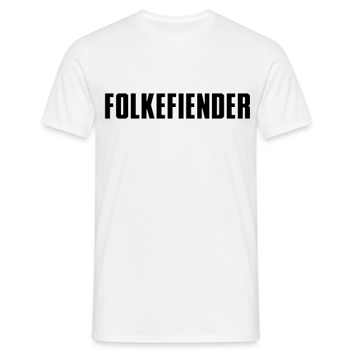 folkefiender spreadshirt 01 - T-skjorte for menn