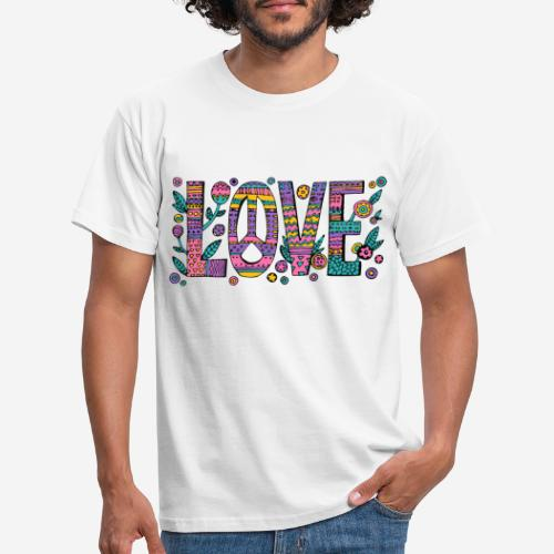 love peace hippie style - Männer T-Shirt
