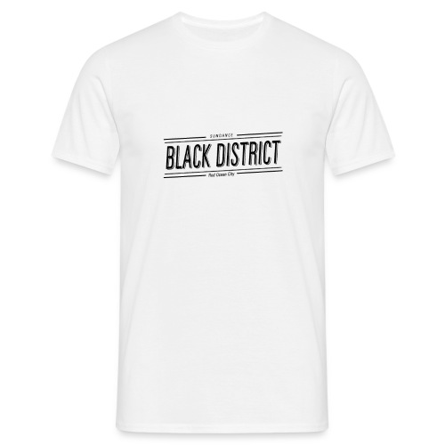 black district on alpha noir png - Men's T-Shirt