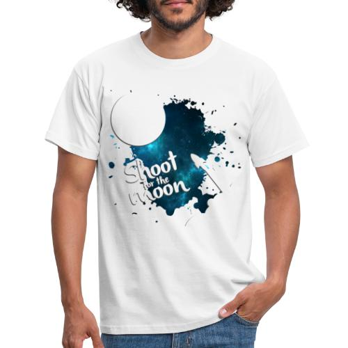 Shoot for the Moon Galaxy Edition - Men's T-Shirt