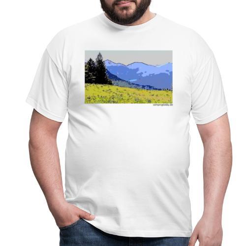 Berge künstlerisch - Männer T-Shirt