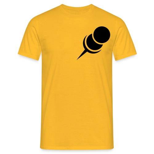 Pin Nadel rechts Zwecke > hier < - Männer T-Shirt
