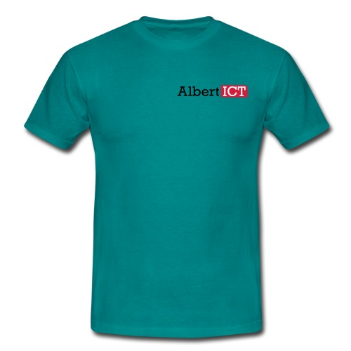 AlbertICT logo full-color - Mannen T-shirt