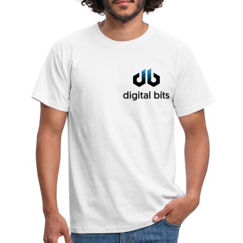 digitalbits Logo mit Schriftzug - Männer T-Shirt