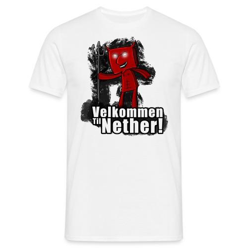 velkommen til nether 1 png - T-skjorte for menn