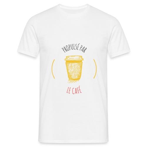 Propulsé par le café - T-shirt Homme