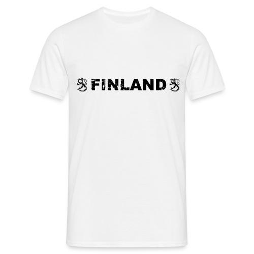 finland leijonat musta - Miesten t-paita