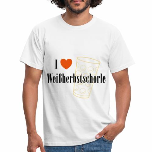 I ♥ Weißherbstschorle - Männer T-Shirt