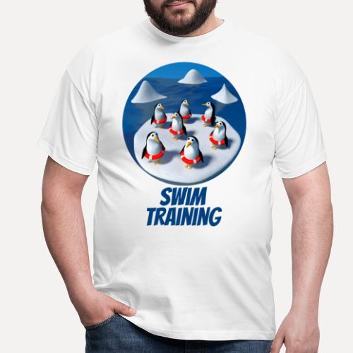 Pinguine beim Schwimmunterricht - Men's T-Shirt